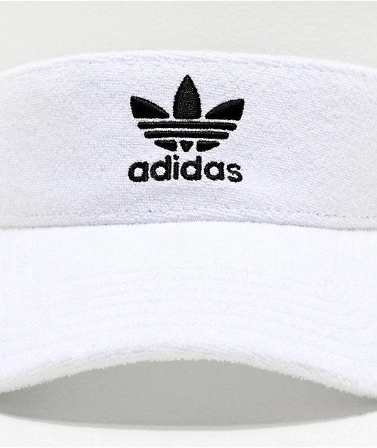 adidas Originals White French Terry Visor