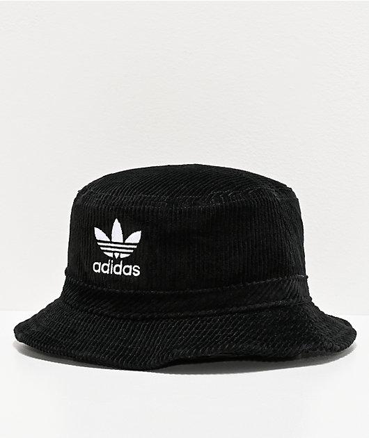 adidas Originals Widewale Corduroy Black Bucket Hat
