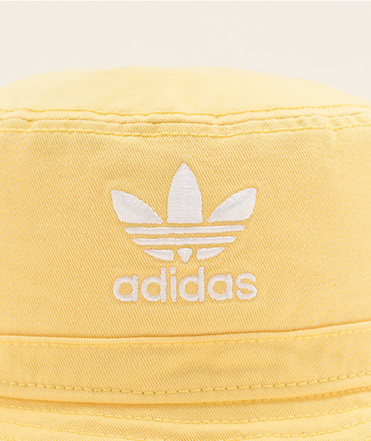 adidas Originals Yellow Washed Bucket Hat