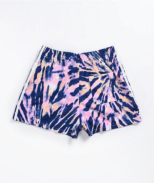 adidas Pink & Purple Elastic Waist Shorts