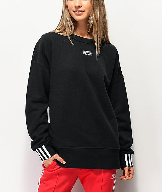 adidas R.Y.V. Black Crew Neck Sweatshirt