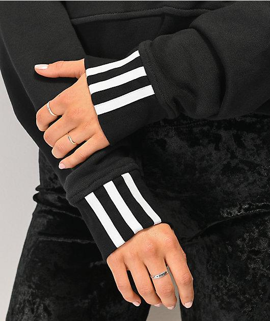 adidas R.Y.V. Black Crop Hoodie