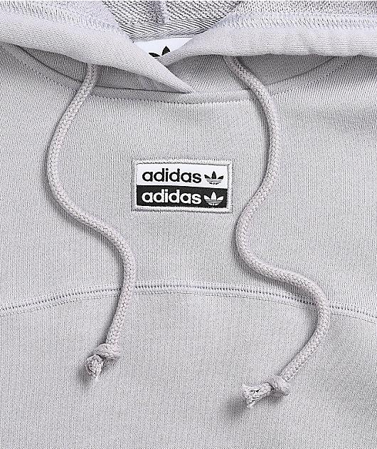 adidas R.Y.V. Grey Cropped Hoodie