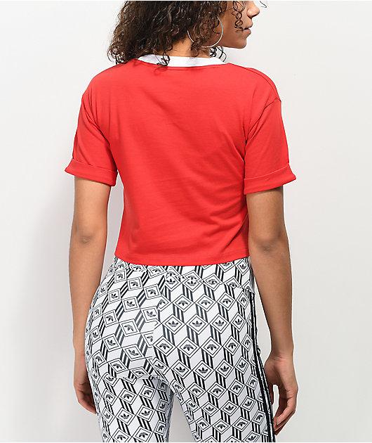 adidas Red Crop T-Shirt
