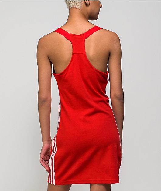 adidas Red Racerback Dress