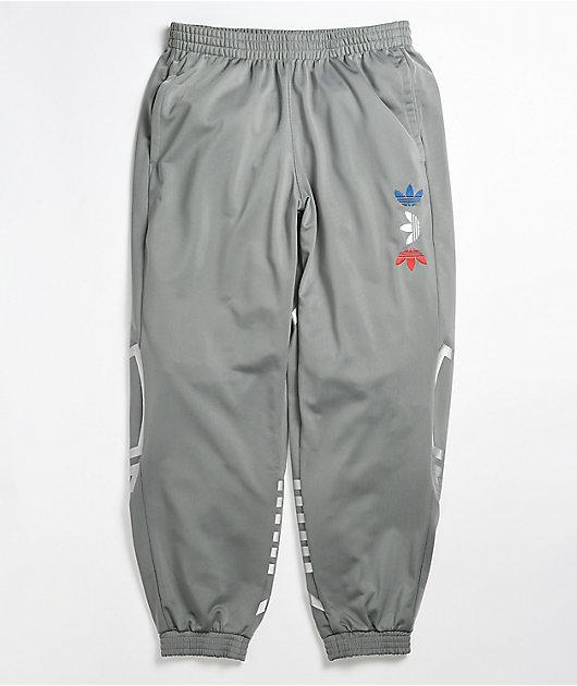 adidas Reflective Trefoil Grey Track Pants