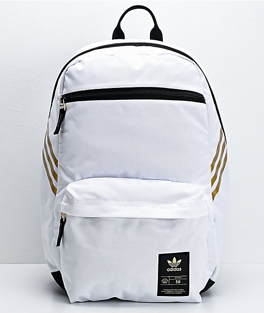 adidas SST 50 White & Gold Backpack