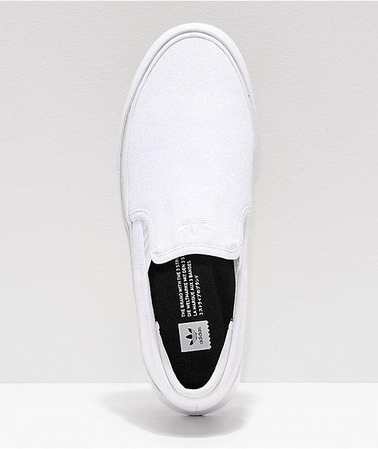 adidas Sabalo White & Grey Canvas Slip-On Shoes