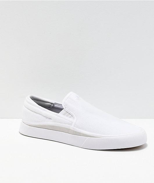 adidas Sabalo White \u0026 Grey Canvas Slip