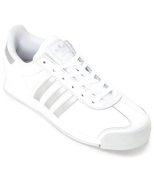 adidas Samoa White \u0026 Silver Women's
