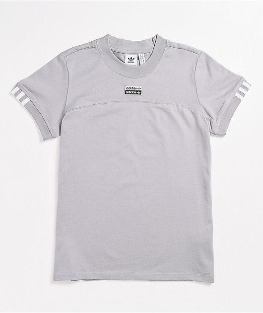adidas Script Grey T-Shirt