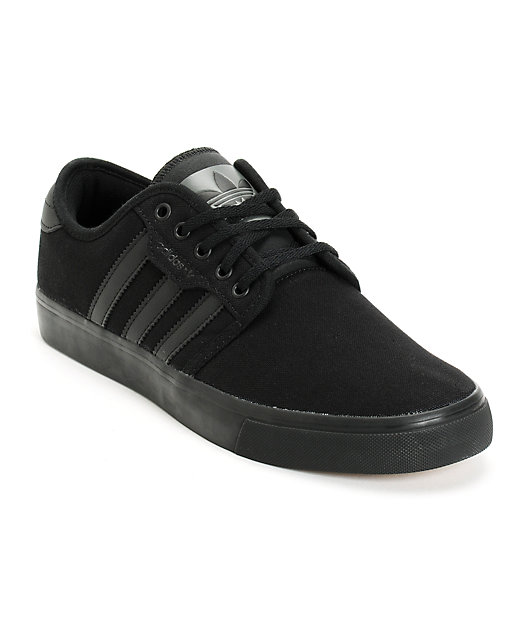 adidas Seeley All Black Canvas Shoes