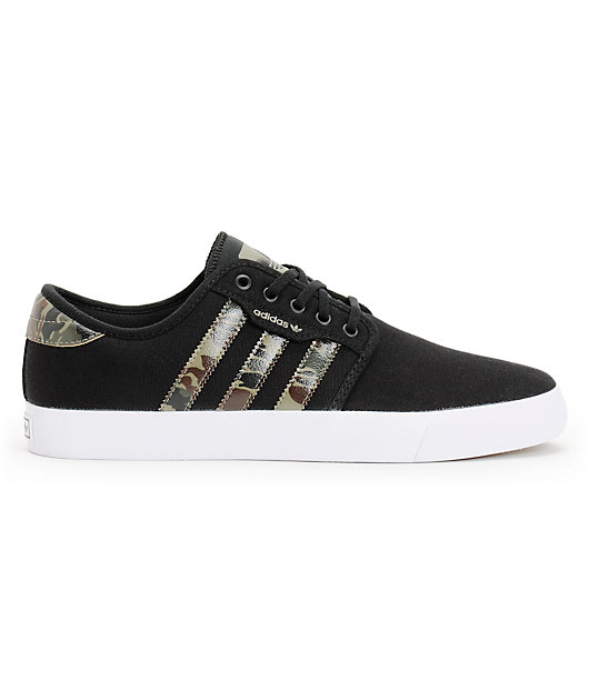 adidas Seeley Black \u0026 Camo Canvas Shoes