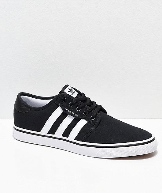 adidas Seeley Black \u0026 White Shoes | Zumiez