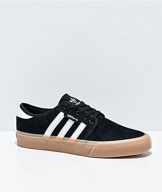 Arena detección varilla  adidas Seeley XT Black, White & Gum Shoes | Zumiez