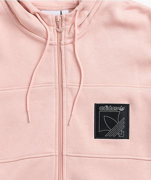 adidas Sport Icon Light Pink Zip Hoodie