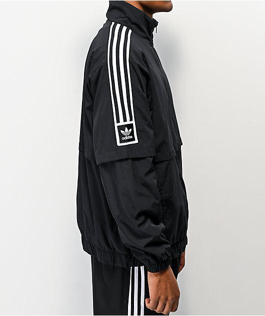 adidas Standard Black & White Windbreaker Jacket