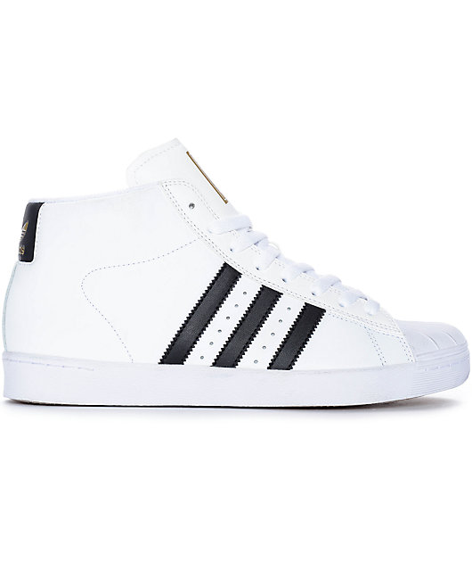 adidas Superstar Vulc Mid White \u0026 Black