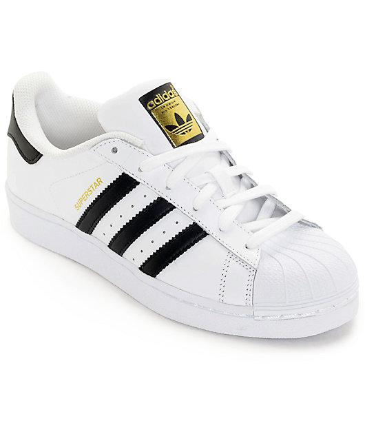 adidas Superstar White \u0026 Black Shoes