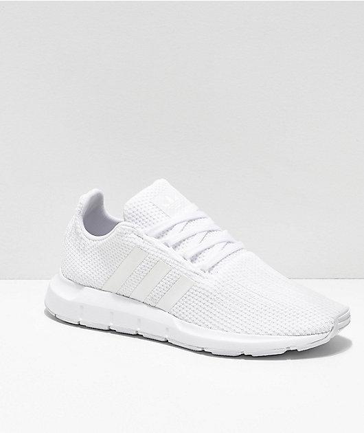 adidas Swift Run All White Shoes