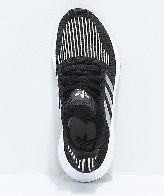 adidas Swift Run Core Black \u0026 Silver