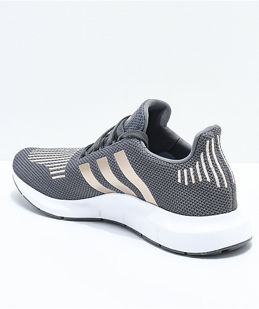adidas Swift Run Grey, Copper \u0026 White