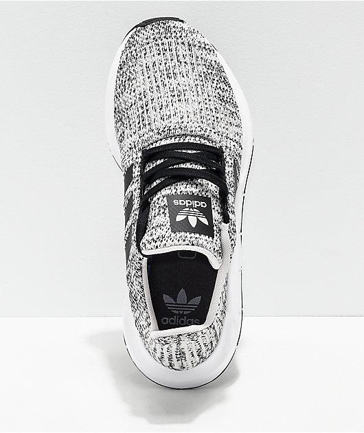 adidas Swift Run Heather Black \u0026 White