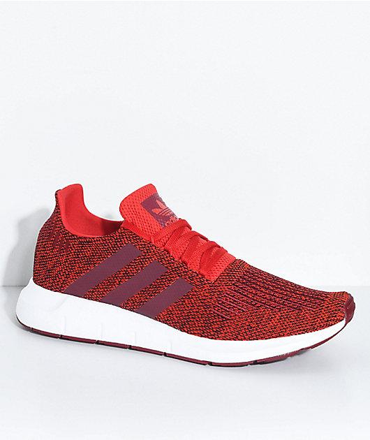 adidas Swift Run Red, Burgundy \u0026 White