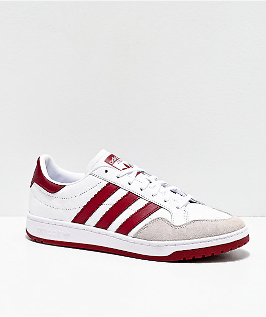 adidas Team Court White & Burgundy Shoes