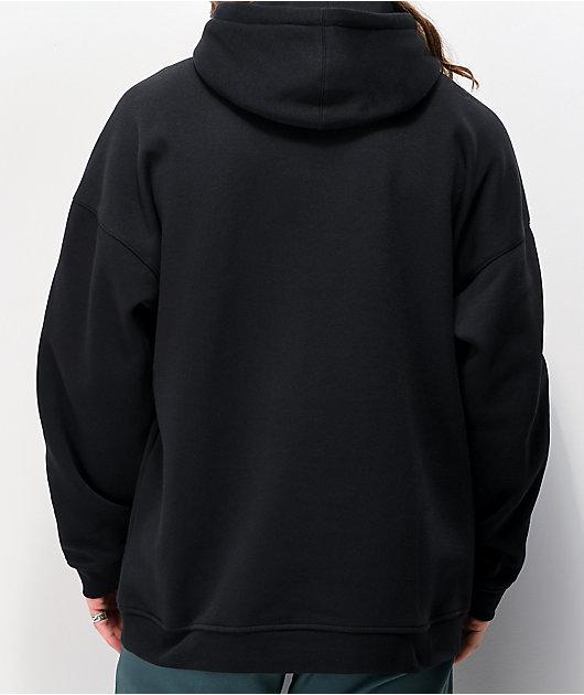 adidas Tech sudadera con capucha negra y blanca