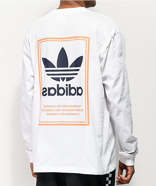 adidas Tongue Label White Long Sleeve T-Shirt
