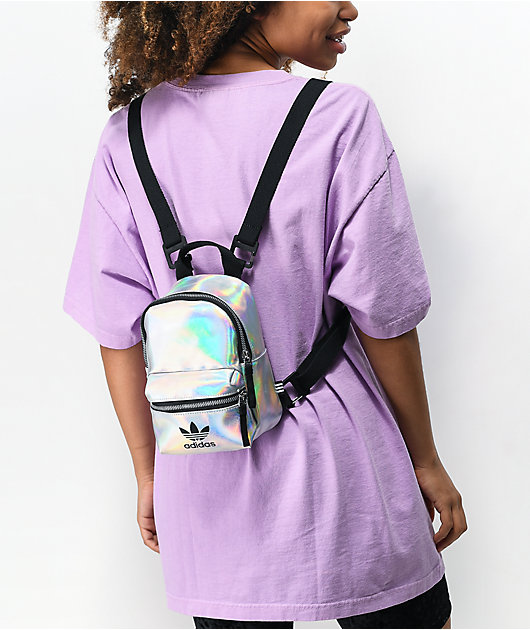 adidas Translucent Silver Mini Backpack