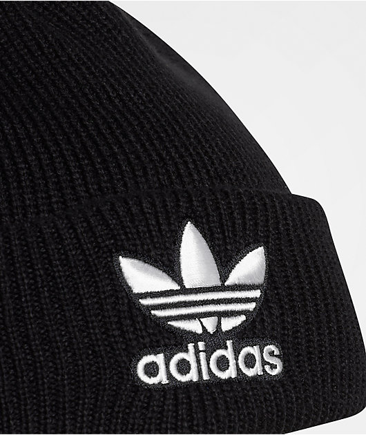 adidas Trefoil Black & White Beanie