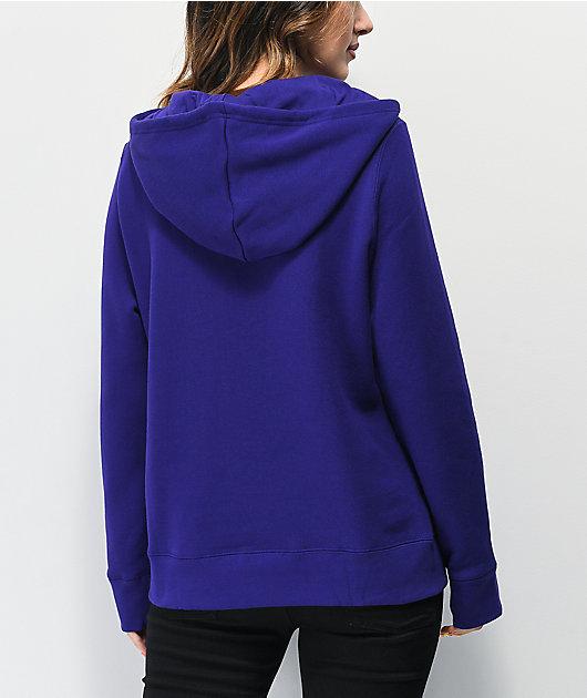 adidas Trefoil Collegiate Purple & White Hoodie
