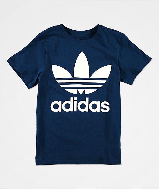 adidas Trefoil Marine camiseta azul marino para niños