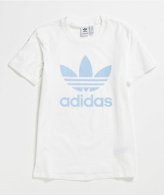 adidas Trefoil White & Blue T-Shirt