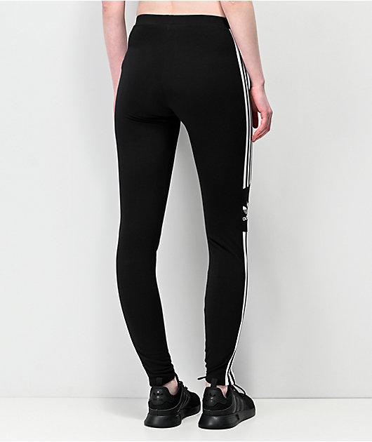 adidas Trefoil leggings negros de 3 rayas