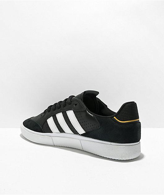 adidas Tyshawn Low Black, White & Gold Shoes