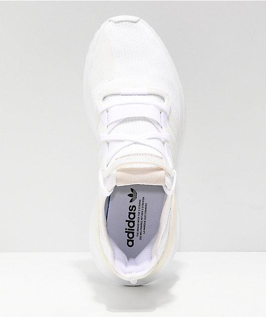 adidas U Path Run All White Shoes