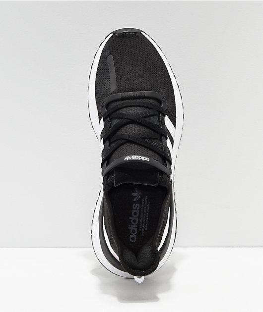adidas U Path Run Black, White & Pink Shoes