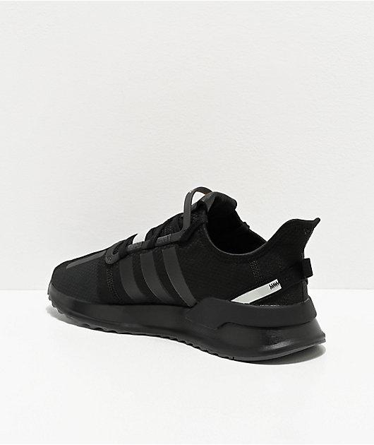 adidas U Path Run Black & Silver Shoes