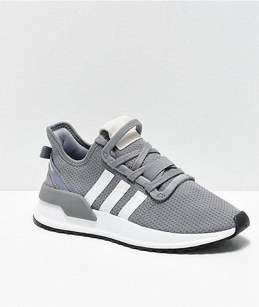 adidas U Path Run Grey \u0026 White Shoes