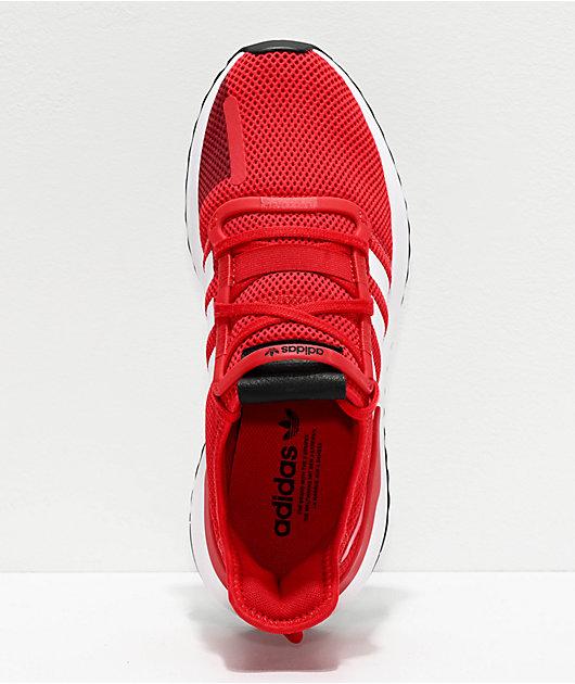 adidas U Path Run Scarlet & White Shoes