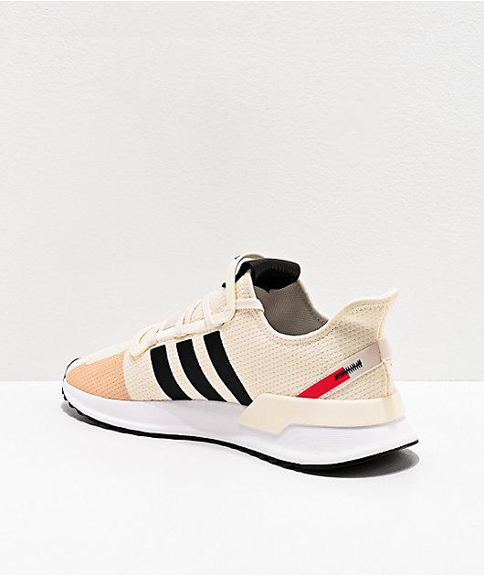 adidas U Path Run zapatos blancos, negros y rojos