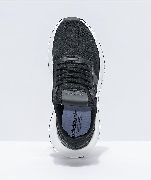 adidas U Path X J Black & White Shoes