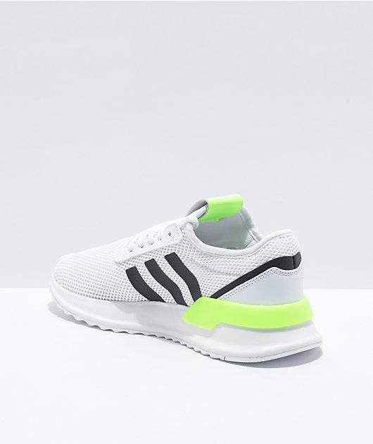 adidas U Path XJ White, Black & Green Shoes