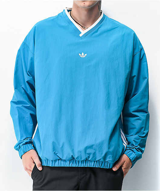 adidas Wind Blue Pullover Windbreaker Jacket