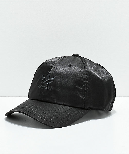 adidas Women's Original Black Satin Strapback Hat