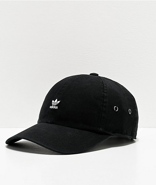 Intención ajustar Fábula  adidas Women's Originals Mini Logo Black Strapback Hat | Zumiez