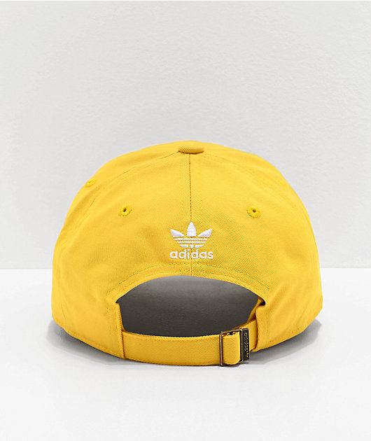 adidas Women's Originals Relaxed Outline Yellow Strapback Hat